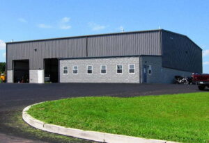 Prefabricated industrial steel buildings manufacturing plant with office space addition
