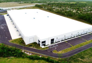 Large industrial steel prefab manufacturing plant
