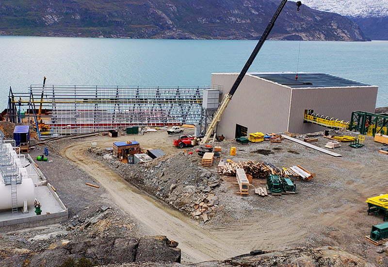 Construction of a prefab steel mining facility