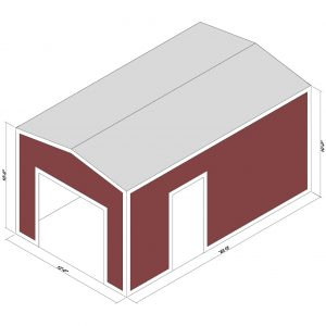 12x20x10 Prefab Steel Building Kit