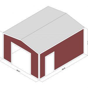 16x20x10 Prefab Steel Building Kit