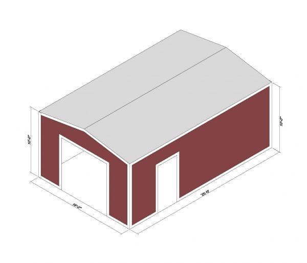 16x25x10 Prefab Steel Building Kit