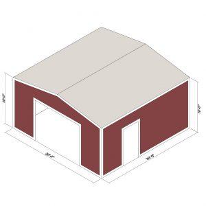 16x30x16 Prefab Steel Building Kit