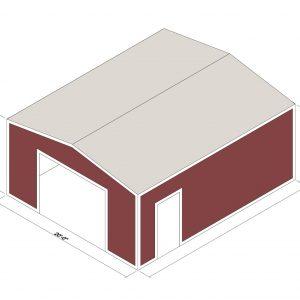 20x24x10 Prefab Steel Building Kit