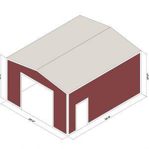 20x24x12 Prefab Steel Building Kit