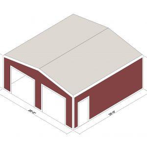 25x25x10 Prefab Steel Building Kit