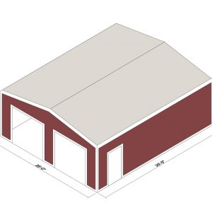 25x30x10 Prefab Steel Building Kit