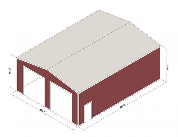 30x40x14 Prefab Steel Building Kit