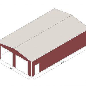 30x50x12 Prefab Steel Building Kit