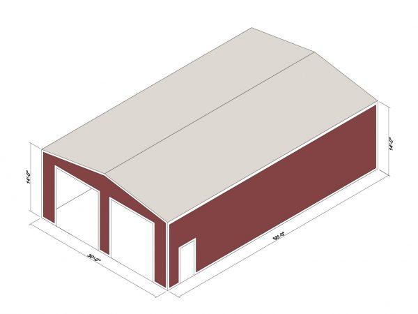 30x50x14 Prefab Steel Building Kit