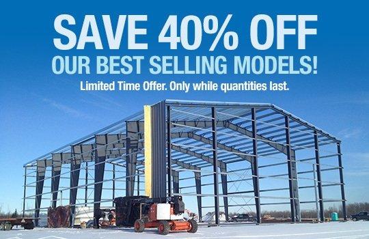 Save 40% promotion
